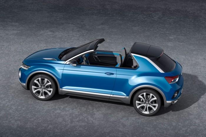 Volkswagen T-ROC с убранной крышей