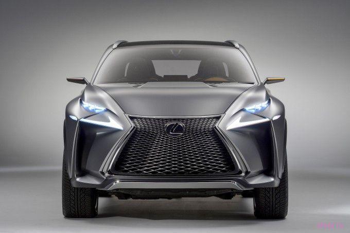 концепт нового Lexus LF-NX - вид спереди