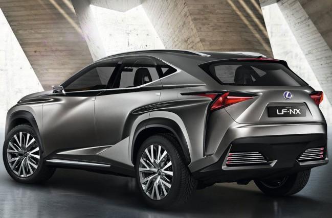 Lexus LF-NX - вид сбоку