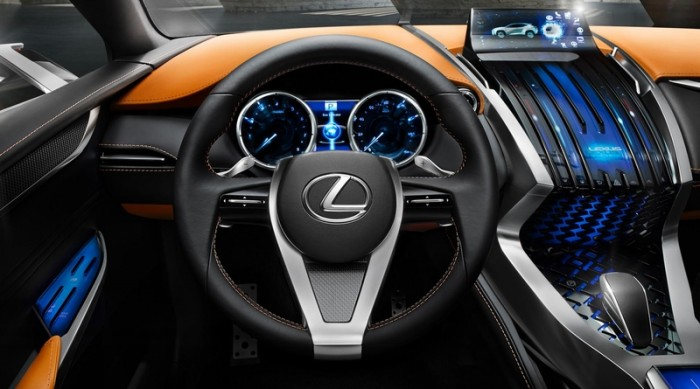 Lexus LF-NX - руль и приборная панель
