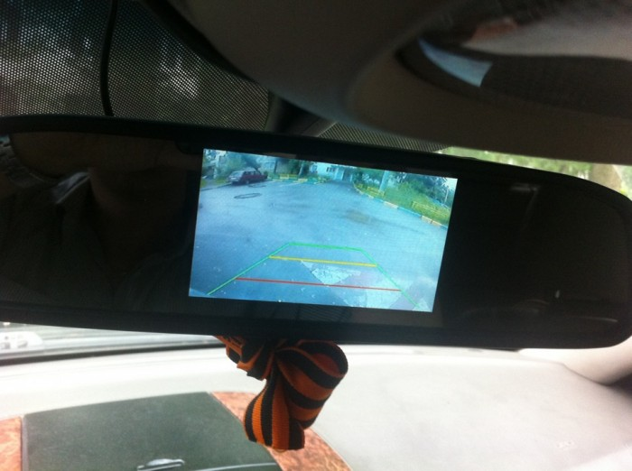 Парковочная камера с отображением в зеркале