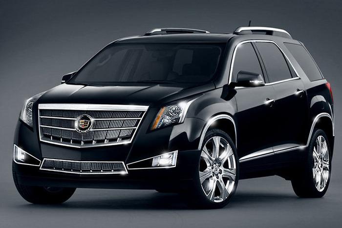 Черный Cadillac SRX 2014