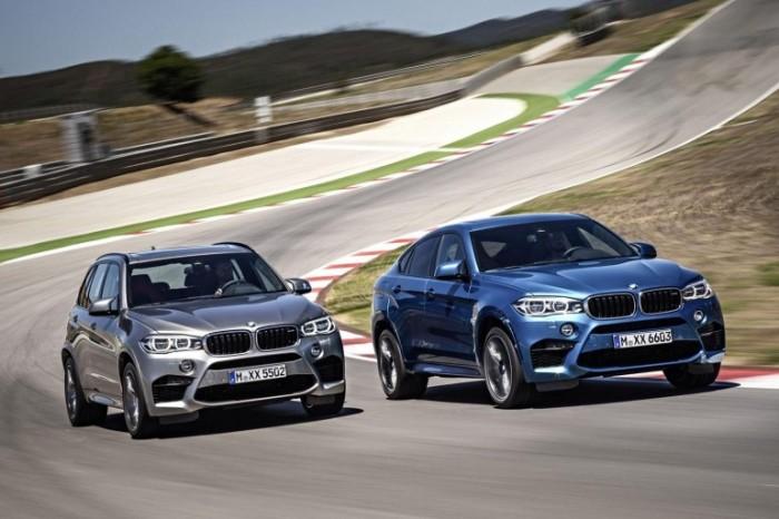 Внедорожники BMW X5 M и X6 M на трассе