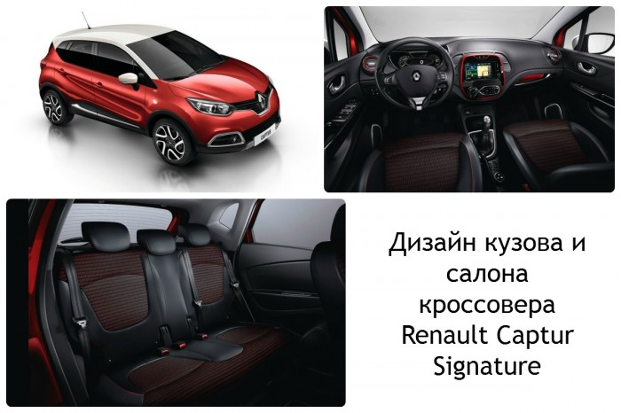 Дизайн кузова и салона Renault Captur Signature
