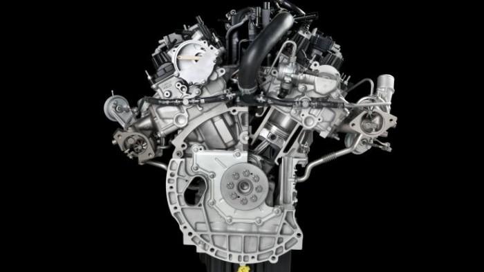 Бензиновый двигатель системы EcoBoost объемом 2.7л
