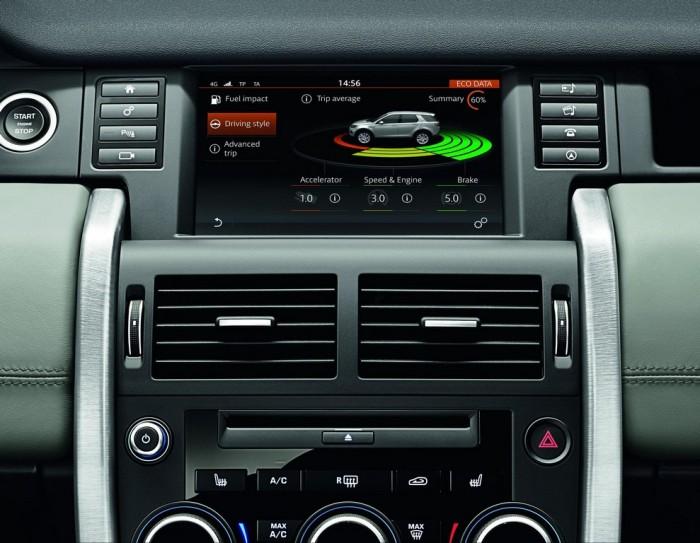 Система InControl в салоне Land Rover