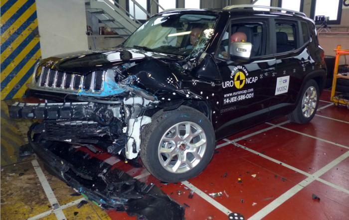 Jeep Renegade тоже заработал 5 звезд в краш-тесте EuroNCAP