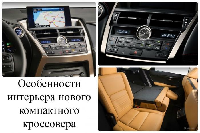 Интерьер компактного кроссовера Lexus NX