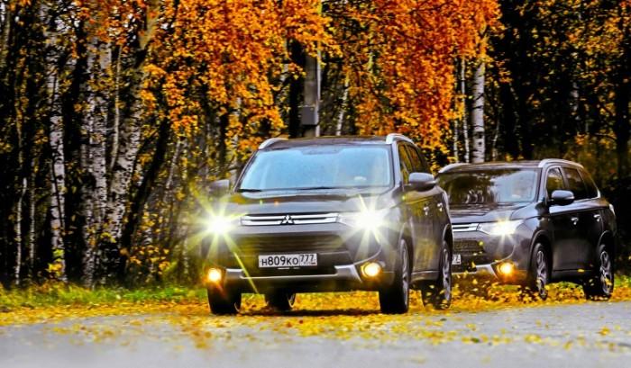 Mitsubishi Outlander с активным дифференциалом S-AWC и без него