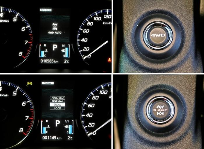 Отличия в двух тестируемых Mitsubishi Outlander