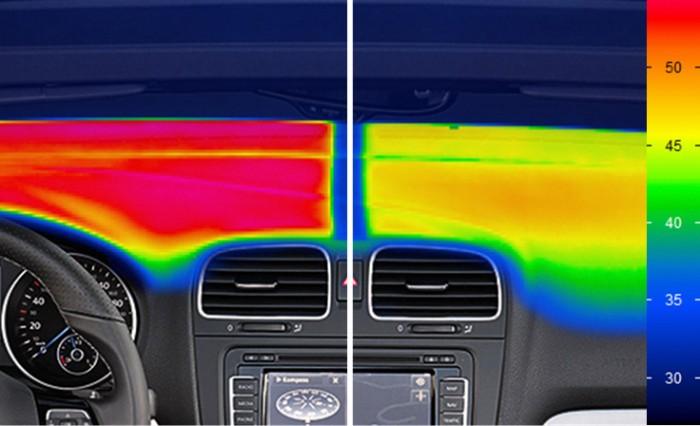 Специальные пигменты в передней панели отражают фракрасные лучи: it - технологии в действии