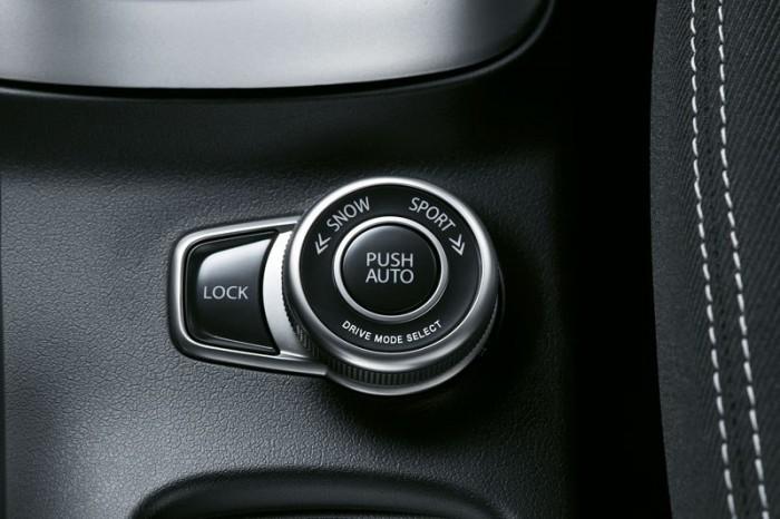 Система Allgrip 4WD управляется вот таким переключателем на передней панели