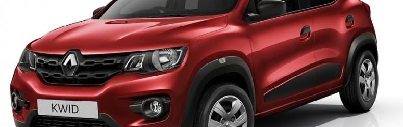 Renault-Kwid красного цвета